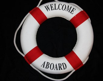 ON SALE 2, Red, Welcome Aboard, Baby Shower Welcome, Welcome Baby, Welcome Aboard, Nautical Baby Shower Decor, New Baby Welcome, Baby Shower