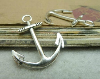 30pcs 25x31mm The Anchor Silver Color Retro Pendant Charm For Jewelry /Pendants C7049