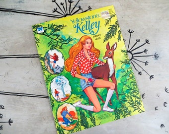 Mattel Paper Doll Book Yellowstone Kelley Paper Doll Whitman Paper Doll Book Uncut Paper Doll Vintage Barbie Vintage Kelley Montana