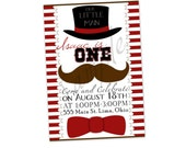 "Customized ""LIttle Man"" Party Invitation Printable"