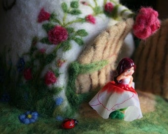 Needle felted FAIRY'S TOADSTOOL HOUSE -  made by order