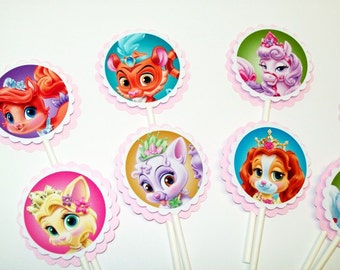 Palace Pets Cupcake Toppers/ Girl Birthday / Party/ Cupcake Decorationg/Girls Party