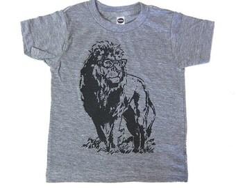 Lion Professor Tee Kids Toddler T-Shirt Funny Animal Shirt Gift For Nephew Son Daughter Child Zoo Field Trip Vintage Tshirt 1st Birthday