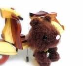 amigurumi crochet bunny  - Brownni MochiQtie - Mini size Amigurumi stuffed animal toy doll