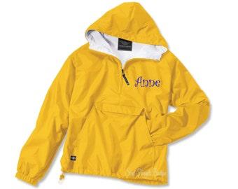 Monogrammed Ladies Windbreaker, Monogram Pullover, Monogrammed Jacket, Personalized Jacket, Windbreaker, Customized Windbreaker, Many Colors