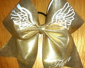 Flyer bow, Gold with wings