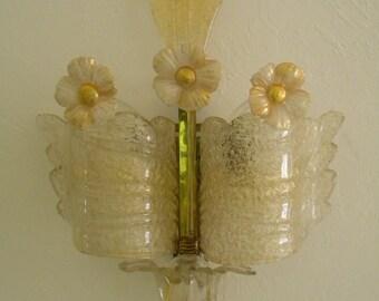 Early Venetian BAROVIER & TOSO  Murano Glass SCONCE Wall Lamp Grand Hotel