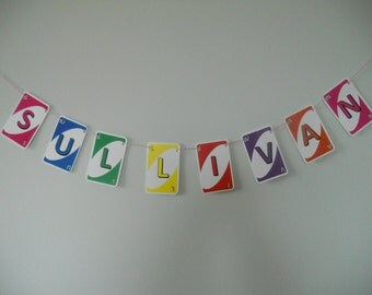 CUSTOMIZED UNO Cards - Make Your Own Birthday Decor - Bright Colors