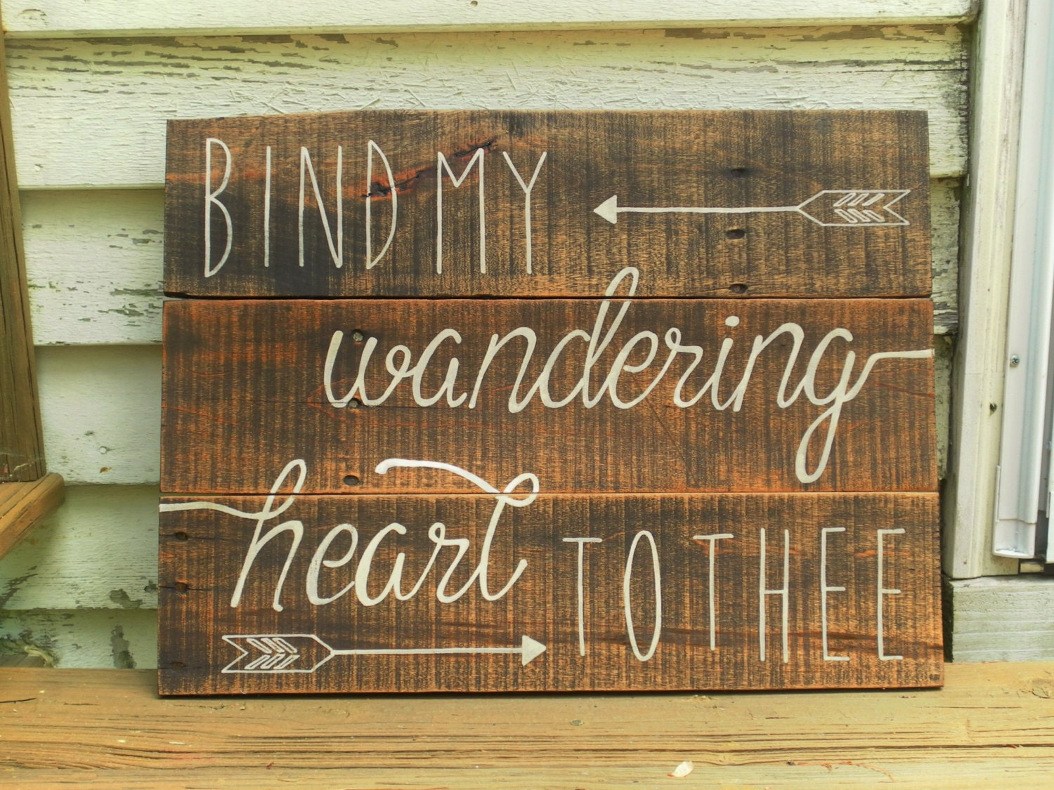Bind My Wandering Heart To Thee Wood Sign Bible Verse Wall