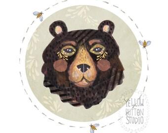 Black Bear 8.5 x 11 Print Painting