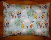 Seven Dwarfs Fabric Travel Pillow Case or Throw Pillow-NEW Disney Fabric Envelope Back-Vacation-Girl's Room Decor - Nap Time -Day Care