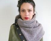 Winter wool cowl, chunky wool knit scarf, unisex scarf