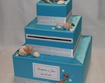 BEACH theme Wedding Card Box-any color combination