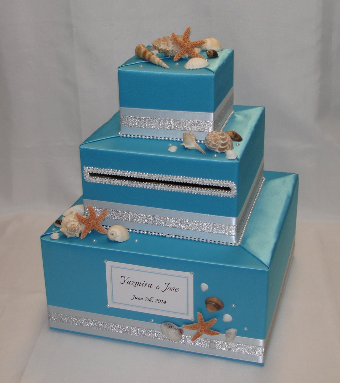 Beach Themed Wedding Gift Card Boxes