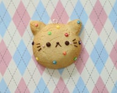 Clay Cat Cookie Mirror Charm
