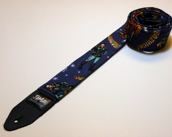 Sit-com themed handmade double padded guitar strap - This is NOT a licensed product
