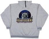Iditarod XX 1992 Heavy, High Zipper Neck Sweatshirt, The Last Great Race, Alaska Mushers, Sled Dog Race