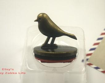 Animal Metal Rubber Stamp Set - Bird - Bird Pattern - 1 Stamp and 1 Ink Pad