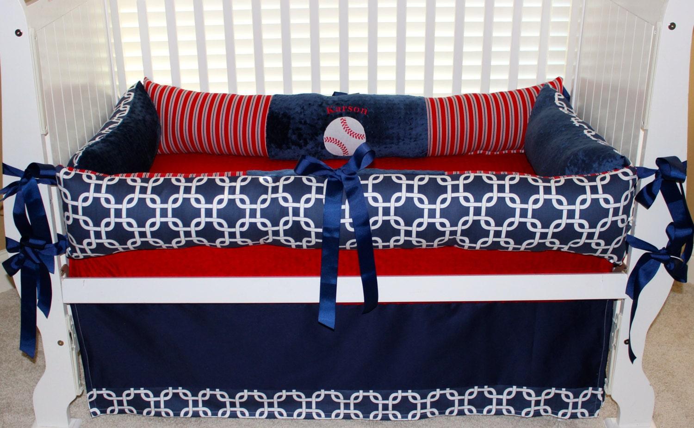 Custom Baby Bedding 3 Pc Set Baseball Karson Set
