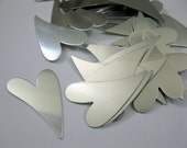 12 Large Aluminum Heart Stamping Blanks, 20 gauge, 1 7/8 inch Funky Hearts, Ready to Ship!