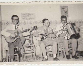 Vintage/Antique beautiful photo of three men band