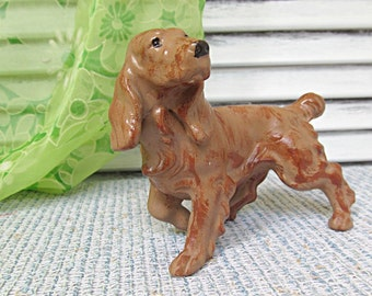Vintage Dog Figurine Setter Spainiel Ceramic Hunting Dog Mid Century Rustic Cabin Mancave  Library Home Decor Dog Lovers