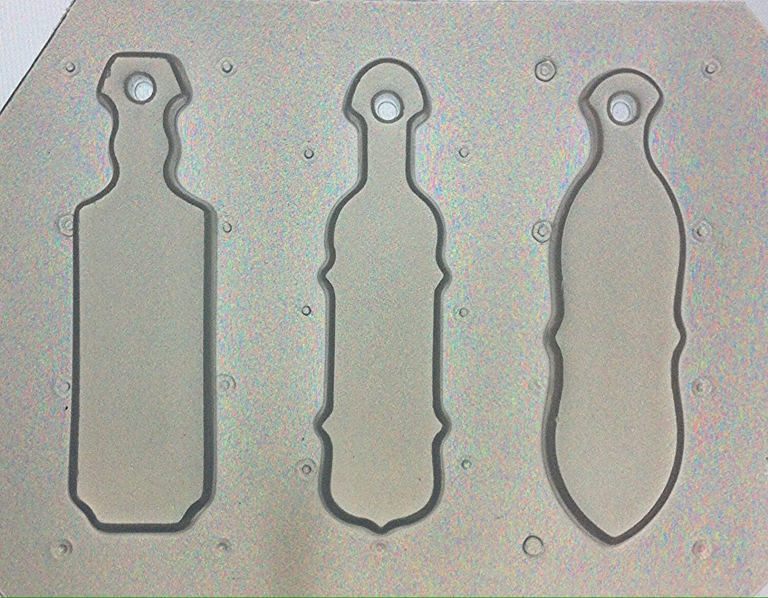 Flexible plastic mold sorority paddles set of 3 for Greek paddle template