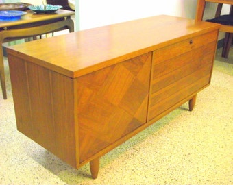 Mid Century Danish Modern Desk Secretary Bookcase Wall Unit