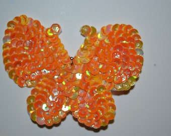 Butterfly Applique Yellow Iris and School Gold Iris Hair Clip