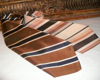 Vintage 1970's Mills Touche/ Designer Creations Striped Ties
