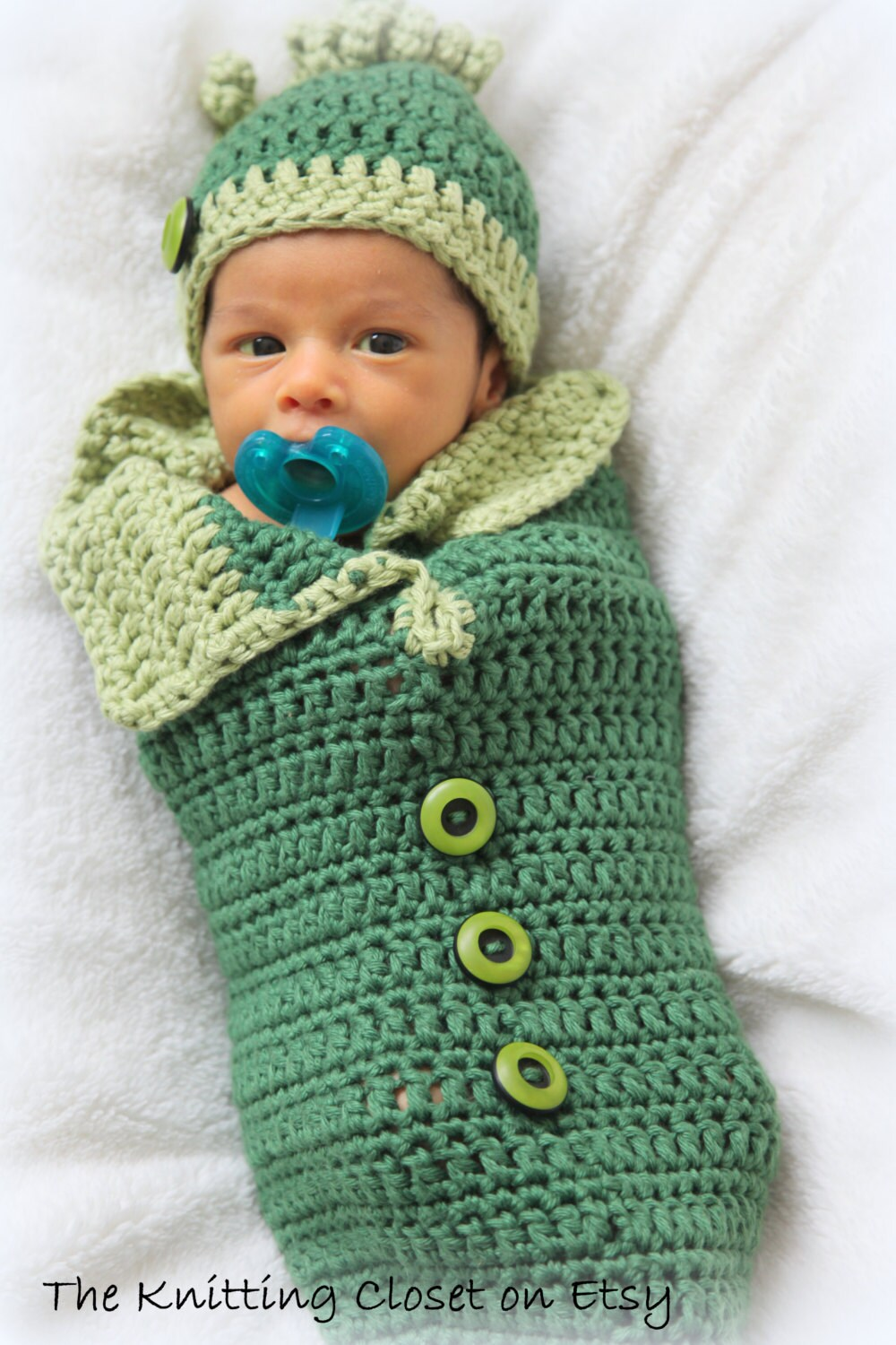 Crochet Baby Cocoon and Hat Pattern Newborn by ...