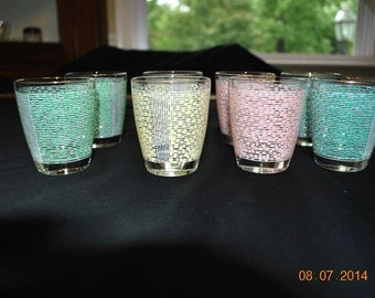 4 - Different Colored Juice Glasses set of 6