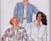 Butterick 3831 Misses' Jacket Pattern, UNCUT, Size Large-X Large, 16-18-20-22, Plus Size,Spring or Fall Jacket, Light Jacket, Zipper Front