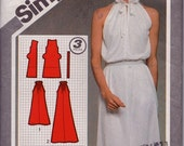 Simplicity 9823 Misses' Super Jiffy Pullover Dress in Two Lengths Pattern, UNCUT, Size 12, Stretch Knits Only, Retro, Flashback, VIntage