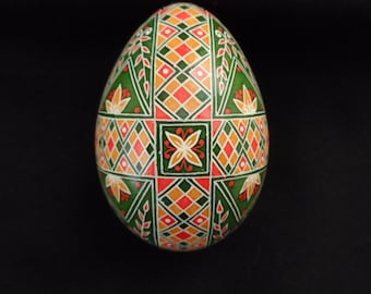 Pysanky Turkey Egg Butterflies, Crosses and Flowers