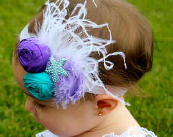 Mermaid Headband  - Little Mermaid Party - Under the Sea Headband - Starfish Headband