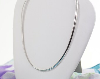 REDUCED...Vintage Sterling Silver 925 Snake Chain Necklace/Choker Made in Italy circa 1980s.