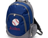 Personalized backpack for boys, baseball backpack, Monogram toddlerbackpack, baseball backpack, kids gift