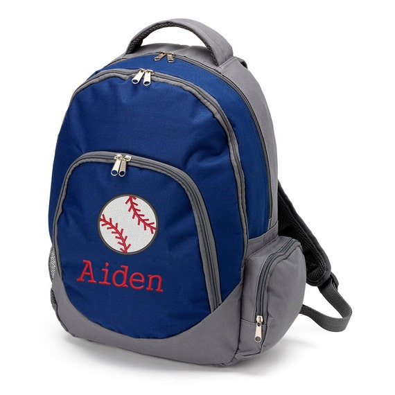 Personalized backpack for boys baseball backpack Monogram