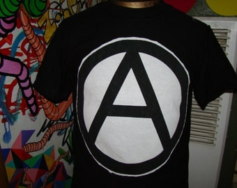 The Anarchist mens size small - x large seditionaries shirt by addicted to chaos