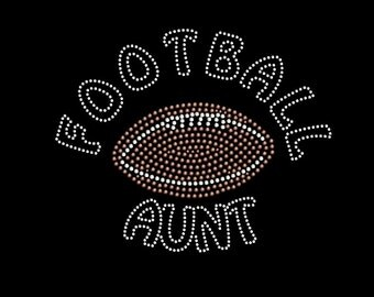 Football Aunt Rhinestone Transfer Iron On DIY Bling 34177