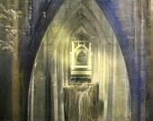 "16""x20"" Original Hand-Painted Photograph ""Under the St. Johns Bridge"""