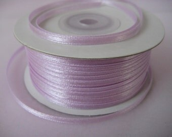 "1/8 "" Lavender Satin Ribbon for Crafting, Tags, Baby Shower, Party Favor, Sewing, 10 yards"