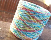 Crochet Cotton - Size 30 - Hand Dyed - Circus Clown - Your Choice of Length - HDT