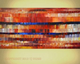 EXTRA LARGE Abstract 30x60x2 Impasto Ready to Hang Art By Thomas John