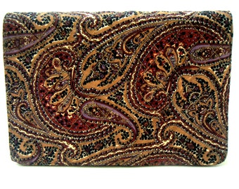 Vintage Jay Herbert Handbag/Purse.Silk,Paisley, Autumn, Fall Fashion.