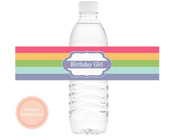 INSTANT DOWNLOAD American Girl Doll Inspired Party, Water Bottle Wraps (American Girl Water Bottle Wraps, American Girl Drink Labels)