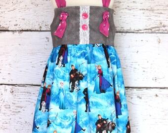 Frozen Inspired Knot Dress