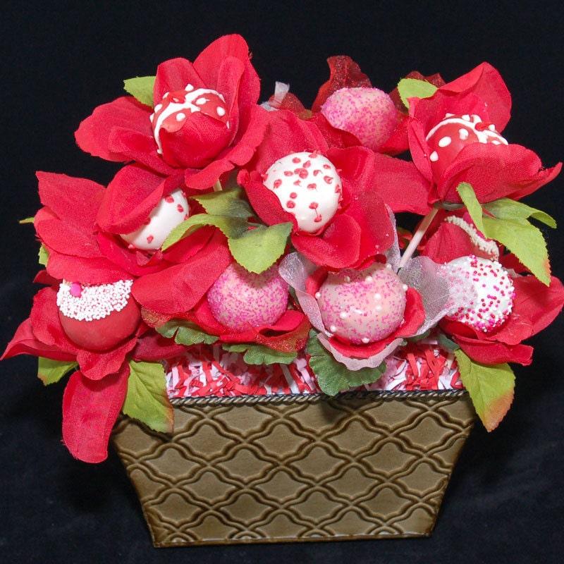 Flowers For Bridal Shower Favors : Edible flowers cake pops wedding favors bridal showers
