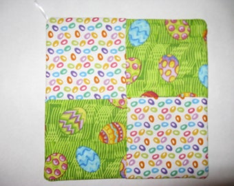 Easter Eggs Pot Holder, Table Decoration, Hot Pad, Potholder, Table Cover, Hotpad